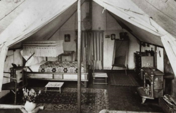 historic bw tent